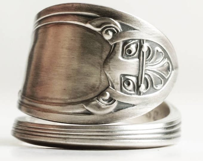 Nordic Knot Ring, Vintage Norway Ring, 830 Sterling Silver Spoon Ring, Norwegian Gift Norse Ring, Handmade Gift Her, Custom Ring Size (6754)