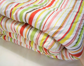 Vintage Ralph Lauren HARBOR VIEW Stripes Twin Comforter, VGUC ... Summer Citrus Colors, Twin Size Bedding