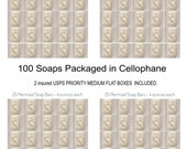 100 Mermaid Beauty Soaps ...CUSTOM ORDER for BRITANNY.  beautifully gentle & serene with delicate essential oils.