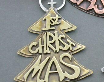 Christmas Ornament - Brass