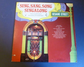 Sesame Street Sing,Sang,Song Singalong Vinyl Record LP CTW 25520 With Word Booklet Sesame Street Records 1978