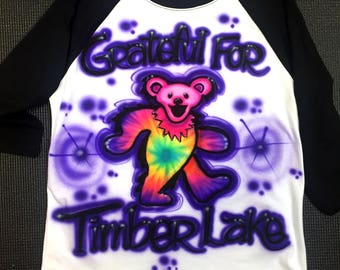 Kids Airbrush Raglan Shirt