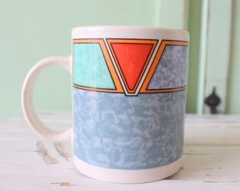 Vintage AZTEC Coffee Mug....retro. coffee. tea. drink. serving. eat. kitsch. diner. urban. aztec. indie. desert. outdoors. mens. womens.