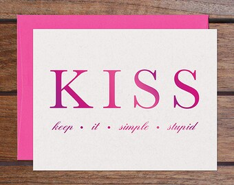 Keep It Simple (Pink Foil)
