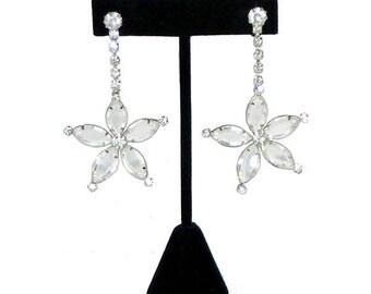 Vintage Rhinestone Drop Earrings