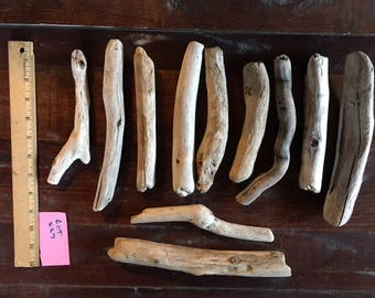 """Bundle of eleven (11) driftwood pieces, each about 8"""" or 9"""""""""""