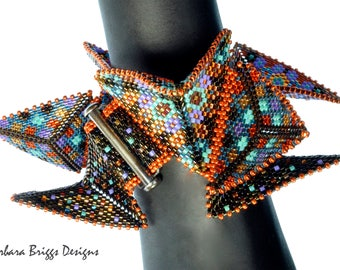 "Geometric ""Staggered Warped Square Bracelet"" Beading Kit"