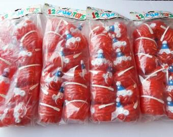 Vintage Clown - Clown Party - Clown Party Favors - Clown Party Cups - Red and White Clown - Creepy Clown - Clown Halloween