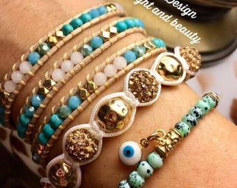 Natural stone Bead bracelet sets