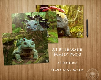 Bulbasaur Family Pack A3 Poster