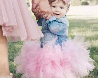 Dusty Rose Tutu and headband set,  Newborn Tutu, Baby Tutu, Tutus for children, Flower Girl tutu, 1st birthday tutus, birthday tutu, mommy a