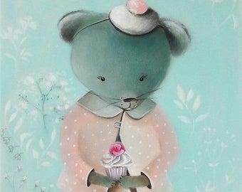 On Sale Mouse kids rooms, Mouse wallart PRINT, Kids room art, Cute animal art, whimsical nursery art for girls room Nursery Art for Kids Roo