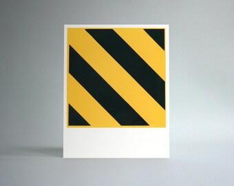 Untitled (Hazard) Handprinted Silkscreen Art Print