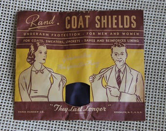 Vintage Rand Coat Shields Underarm Protection, For Coats, Sweaters, Jackets, For Men and Women, Rand Rubber Co, Save and Reinforces Lining