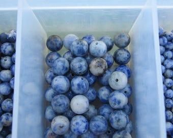 8mm Sodalite Gemstone Beads