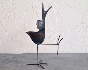 Metal Bird Sculpture