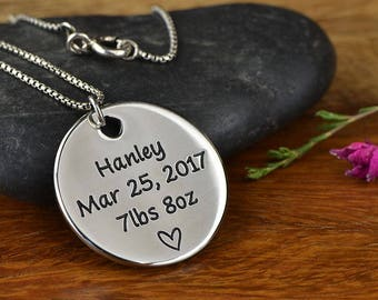 New Mom Necklace, Mom Jewelry, New Mom Gift, Gift for Mom, Gift for Her, - Pendant Necklace ANY TEXT up to 40 Characters