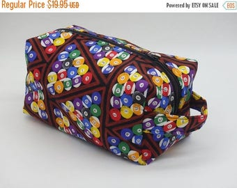 Christmasinjuly CIJ Sale Billiards Travel Bag, Billiards Dopp Kit, Ditty Bag, Toiletry Kit, Travel Bag, Zip Pouch, Go Bag, Gifts for Pool Pl