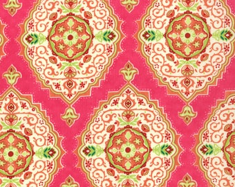 Lily Ashbury Fabric, Trade Winds by Lily Ashbury for Moda Fabrics, 11454-14 Persian Rose