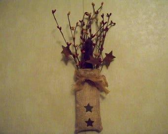 Burlap Cinnamon Candle Bag