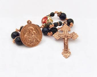Unbreakable single Decade Rosary of Virgin Mary Christ Child and St. Joan Of Arc