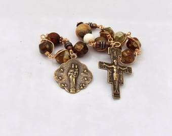 Unbreakable single Decade Rosary of The Nine Choirs Of Angels