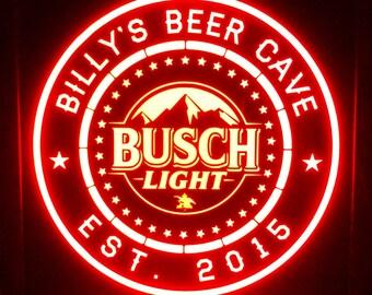 Custom Busch Light multi color led Sign