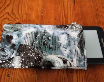 "Handmade Kindle 6"" or Paperwhite Cover Sleeve Liberty in Tempest (Shakespeare) Tana Lawn Fabric"