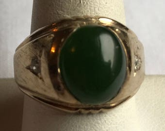 14K Gold Plated Man's Ring-Size 9