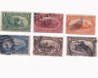 1898 Trans-Mississippi Commemorative US Postage Stamps