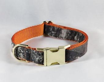 The Sporting Pup Orange Camo Dog Collar