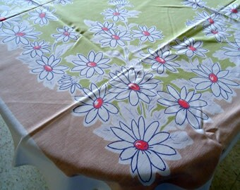 Tablecloth Vintage Muted Floral Tablecloth Table Cloth