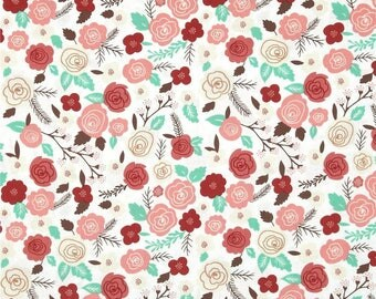 Fabric by the Yard -Into the Woods Floral by Vanessa Goertzen