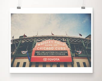 Chicago Cubs photograph Wrigley Field photograph baseball photograph Chicago photograph Chicago Cubs print Wrigley Field print