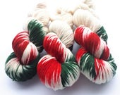 Hand painted Premium high twist sock yarn hand dyed: Guess who's knocking