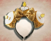 Enchanted Candlestick Mouse Ear Headband with Bow