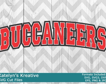 Buccaneers Arched SVG Files