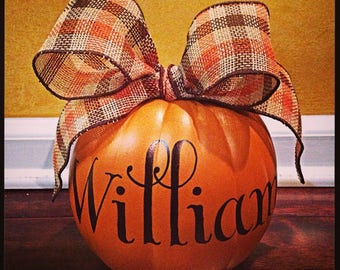 Personalized Mini Pumpkin -- PRIVATE LISTING