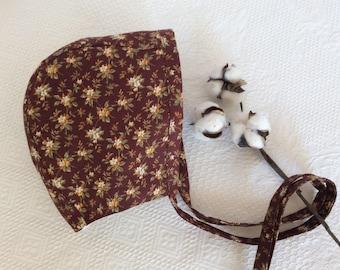 Bonnet.Baby Bonnet.Girl Bonnet.Handmade Bonnet.Floral Bonnet.