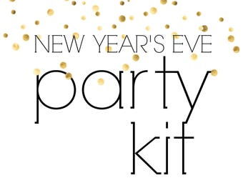 New Year's Eve Party Kit | Happy New Year Party in a Box!