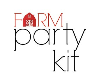 Farm Birthday Party Kit! Barnyard Party in a Box! Farm Animals Party Supplies