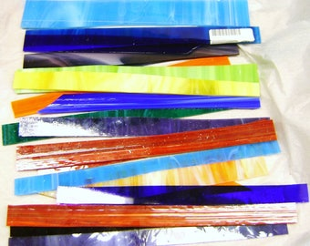 SPECTRUM Stained Glass STRIPS, 10 lbs., 96 COE, for Fusing, Weaving, Mosaic