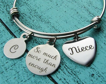 enough bracelet, Christmas gift for Niece, so much more than enough, niece birthday, graduation gift, I am enough jewelry encouragement gift