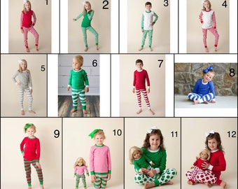 Personalized Christmas Pajamas PREORDER through AUGUST 9 - Your choice of applique and personalization