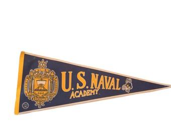 1980s US Naval Academy Felt Flag