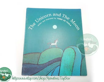 The Unicorn and the Moon by Tomie De Paola 1980s Book Paperback