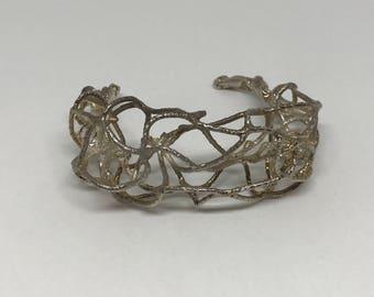 Fish net cuff- unique piece