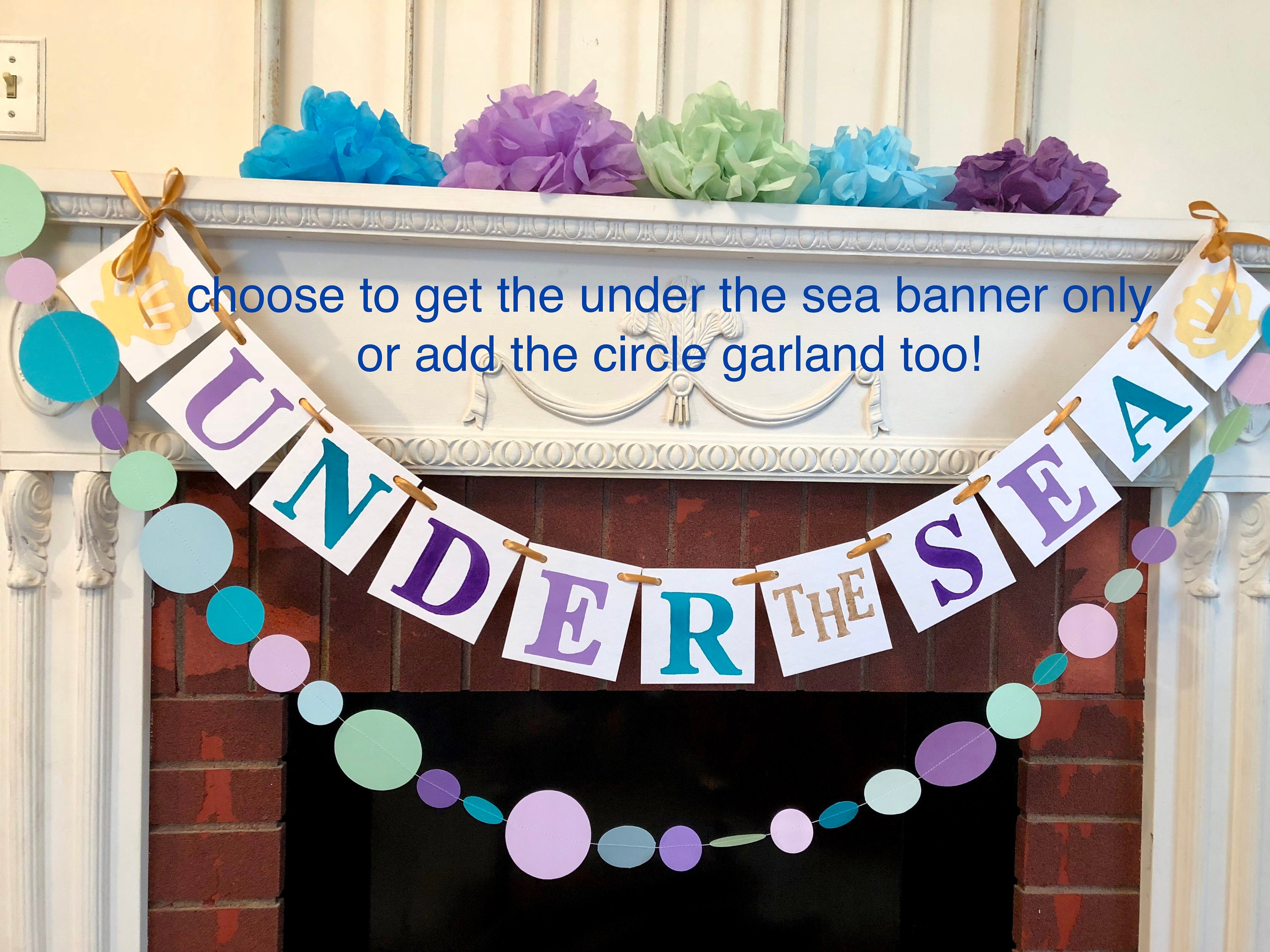 p the il mermaid birthday tropical beach your under party banner pool decorations sea decor fullxfull colors