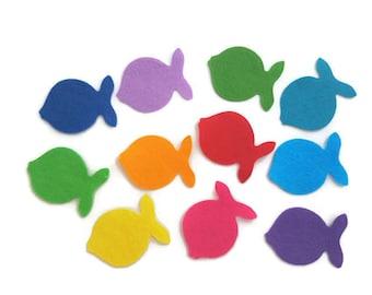 Felt fish shape die cut felt shapes Arts and crafts felt animals underwater pre cut felt shapes supplier UK