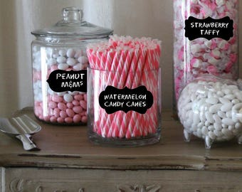 Reserved - upgrade for Candy Buffet Label for Jars - Chalkboard Labels Medium- mixed set of 18